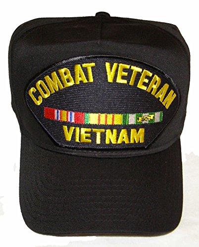 Vietnam Combat Veteran with Ribbons Hat - Veteran Owned Business