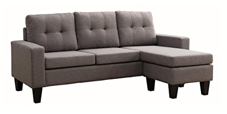 Bon Milton Greens Stars Douglas SECTIONAL Sofa With Reversible Chaise, Grey