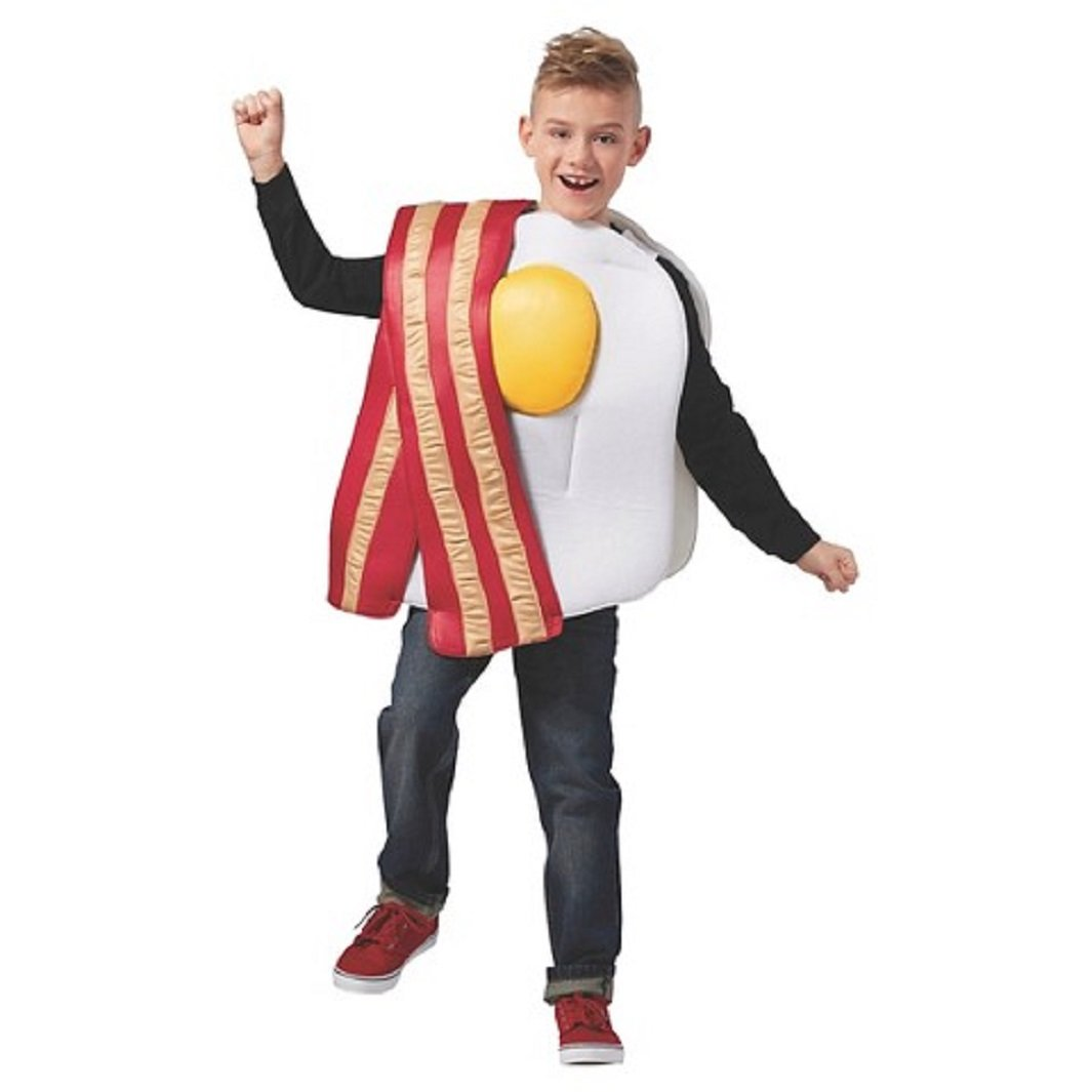 5ae28ac95525d Amazon.com: Child's Bacon & Eggs Costume (S/M): Clothing
