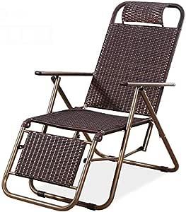 QAWSED - Silla de jardín reclinable, silla plegable de ratán para playa, sillas de ocio, de verano, de oficina en casa (tipo de estilo): Amazon.es: Hogar