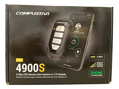 Compustar CSX4900-S 4-Button 2-Way, 3000' Remote Start System w/Drone X1LTE