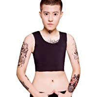 BaronHong Pullover Chest Binder Without Clips Cotton Breathable Half Length for Tomboy Trans Lesbian