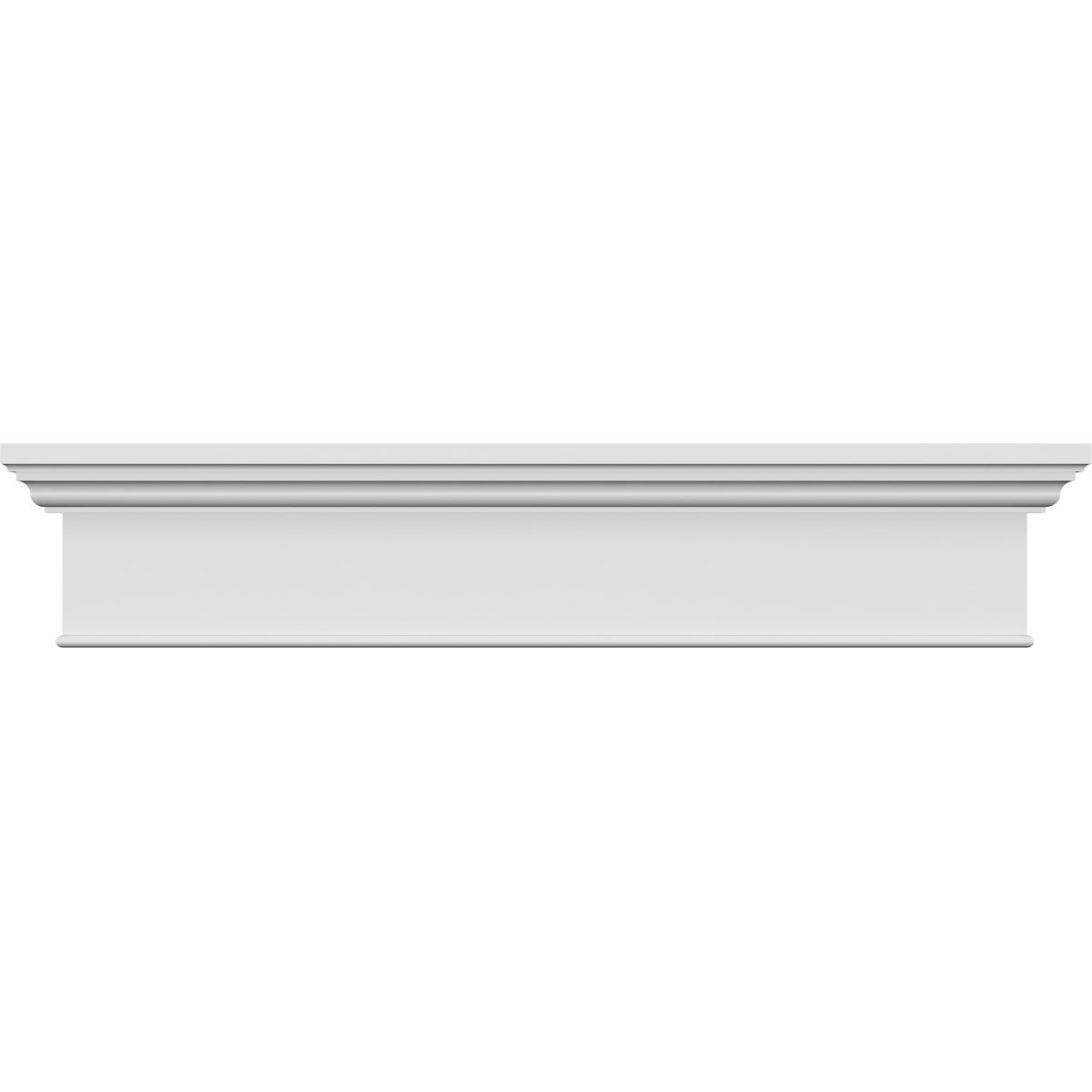 Ekena Millwork CRH07X38BT Craftsman Crosshead with Bottom Trim, 38'' Width x 42'' Top Width, Factory Primed and Ready for Paint by Ekena Millwork