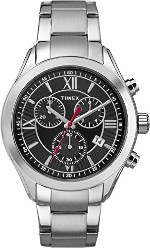 Timex Men's TW2P93900 Miami Chronograph Black/Silver-Tone Stainless Steel Bracelet Watch