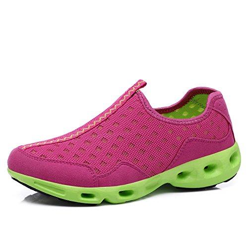 Yuanli Sport Kvinna Ventilerande Mesh Promenadskor, Halka På Sneakers Pink