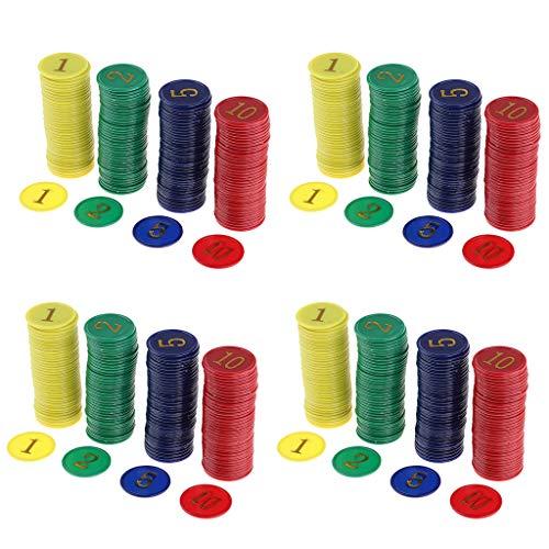 SM SunniMix 640pcs Board Game Poker Chips Casino Game Recreation Mahjong Money Chips Set