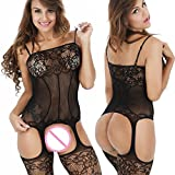 Lingerie-BodystockingsWomen-Stretch-Fishnet-Sexy-Lace-Crotchless-Underwear-Bodysuit-Black-Onesize-for-Dating-Nightwear