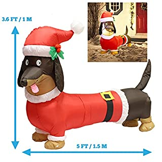 5ft long wiener dog self inflatable with suit perfect for dachshund blow up yard decoration