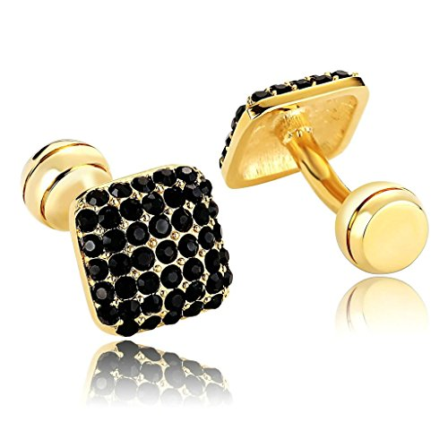 AmDxD Jewelry Stainless Steel Men Cufflinks Silver Blue Square Plated Clear Cubic Cuff Links Cuff - Target Square Union
