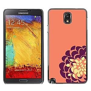 Be Good Phone Accessory // Dura Cáscara cubierta Protectora Caso Carcasa Funda de Protección para Samsung Note 3 N9000 N9002 N9005 // Purple Yellow Flower Floral