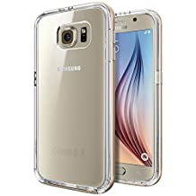 Spigen Neo Hybrid CC Galaxy S6 Case with 1 Back Protector / Flexible Clear Case and Reinforced Hard Bumper Frame for Samsung Galaxy S6 2015 - Champagne Gold