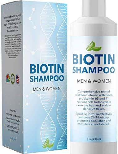 Premium Biotin Hair Growth Shampoo With Anti Dandruff Benefits - Hydrating Hair Loss Treatment - Block DHT & Reduce Shedding With Nourishing Coconut Oil & Tea Tree & Argan Oil For Men & For Women
