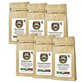 #9: Java Planet - Coffee Beans, Organic Coffee Sample Pack, Whole Bean Variety Pack, Arabica Gourmet Specialty Coffee packaged in six 3.2 oz bags