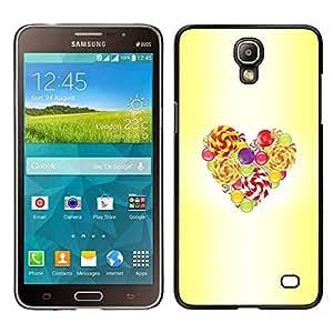 LECELL--Funda protectora / Cubierta / Piel For Samsung Galaxy Mega 2 -- Pascua Amarillo Acuarela Amor --