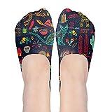 Cute No Show Socks Women Graffiti Hip-hop Colorful Low Cut Boat Line Ankle Socks Women