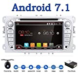 Android 7.1 Quad-Core Wifi Model 7' Full touch-screen Ford Focus Car DVD CD player GPS 2 din Stereo GPS Navigation free camera,canbus,Color Sliver