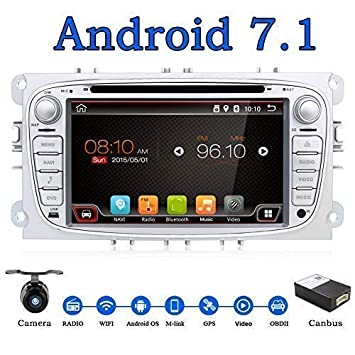 "Android 7.1 Quad-Core WiFi modelo 7 ""Full pantalla táctil Ford Focus coche"