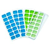 freezer herb tray - CATWALK Silicone Ice Cube Trays 4 Pack with Removable Lids, 56 Ice Cubes Molds Easy-Release Stackable LFGB/FDA Approved BPA-free Ice Cube Tray Set