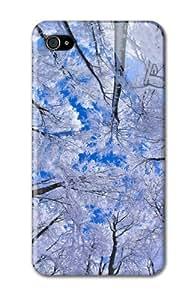 Case Fun Apple iPhone 4 / 4S Case - Vogue Version - 3D Full Wrap - Snowy Forest