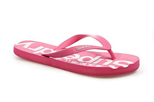 Superdry GT Profil femmes Fluro Rose Blanc Tongs  Amazon.fr ... 3e8035c6dd8e