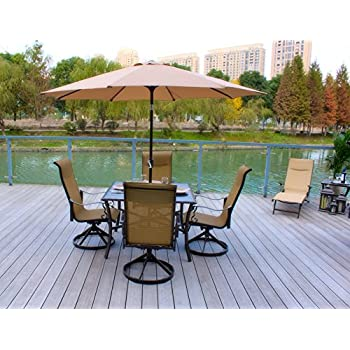 a194a1301d6 Pebble Lane Living All Weather Rust Proof Indoor Outdoor 5 Piece Cast  Aluminum Patio Dining Set