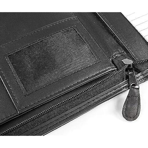 professional executive pu leather business resume portfolio padfolio organizer with ipad mini or tablet sleeve