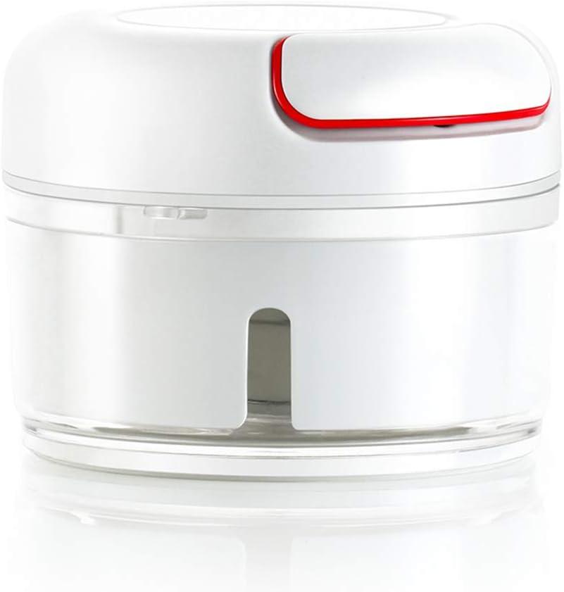 Fohufo Mini Garlic Chopper, Mini Hand Pull Food Processor, Garlic Press, Mincer Vegetable Grinder for Meat Nuts Pepper, BPA Free/Durable, 170ml