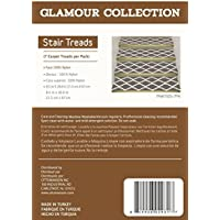 Ottomanson Glamour Collection Trellis Design Stair Tread, 8.5 X 26 Pack of 7, Gray