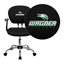 Flash Furniture Wagner College Seahawks Embroidered Black Mesh Task Chair with Arms and Chrome Base