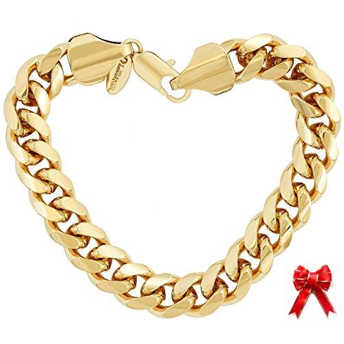 gold bracelet italian mens - 2