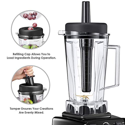 Smoothie Blender Aicook Professional Blender, 1450 Watts Countertop Blender with 70oz Jar, 2 Portable Cups, 14 Variable Speeds, 4 Programs, Home and Commercial Available for Shakes and Smoothies