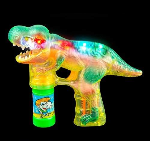 8'' LIGHT-UP T-REX BUBBLE BLASTER, Case of 12 by DollarItemDirect (Image #1)