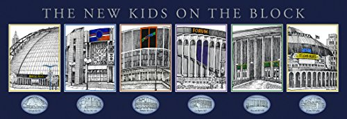 THE NEW KIDS ON THE BLOCK framed and matted NHL Classic Venues Print