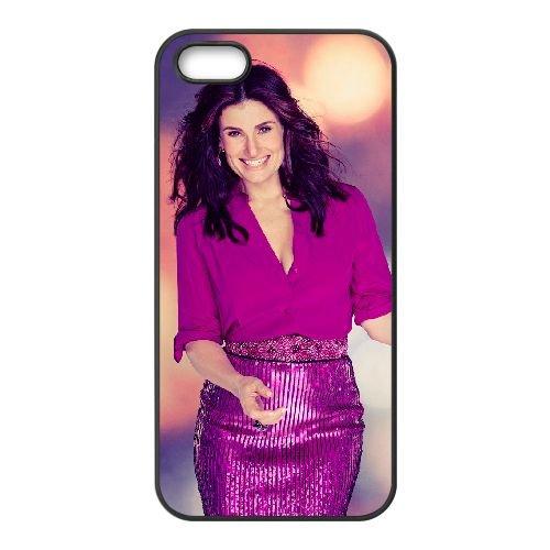 Idina Menzel 004 coque iPhone 5 5S cellulaire cas coque de téléphone cas téléphone cellulaire noir couvercle EOKXLLNCD24511