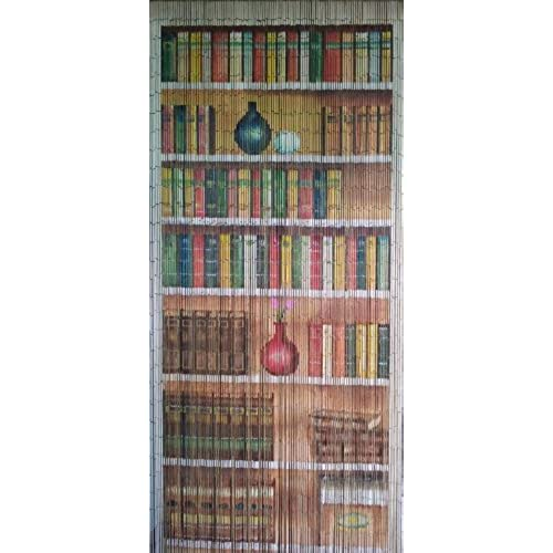 Bookcase Beaded Curtain 125 Strands Hanging Hardware