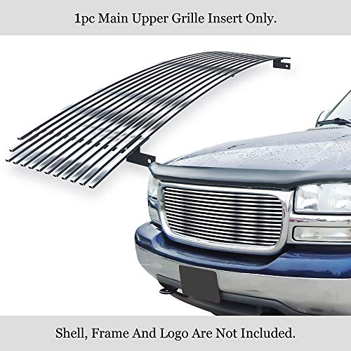 APS Compatible with 99-02 GMC Sierra 00-06 Yukon 01-06 Denali Stainless Chrome Billet Grille S18-S96358G