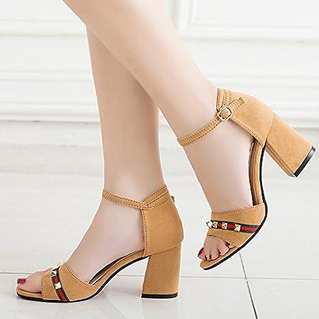 Lgk & fa estate sandali da donna estate tacchi nastri