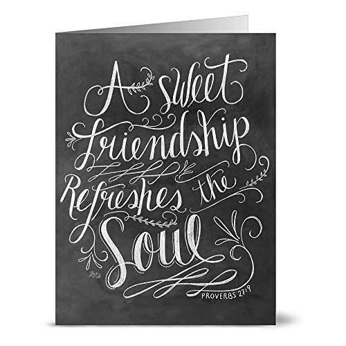 Refreshes the Soul - 36 Chalkboard Note Cards - Blank Cards - Kraft Envelopes Included