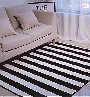 KOOCO Einfache Schwarz/weissen Streifen Teppiche Für Wohnzimmer Home  Schlafzimmer Teppiche Kinder Studie Zimmer Teppich