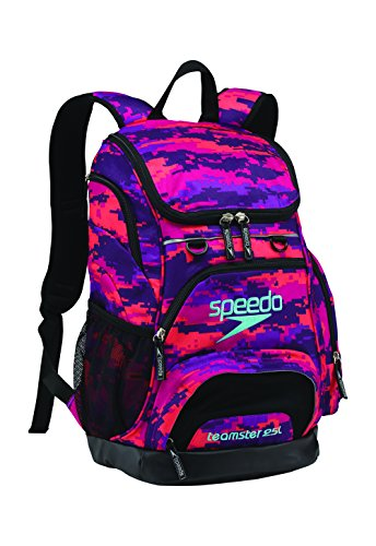 Speedo Teamster Backpack, Camo Purple, Medium/25 L