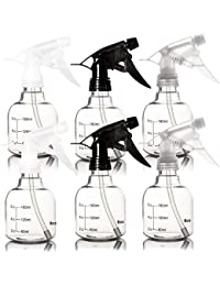 6 Pack Empty Plastic Spray Bottles, Spray Bottles for Hair and Cleaning Solutions in 3 Colors (8 Ounce)