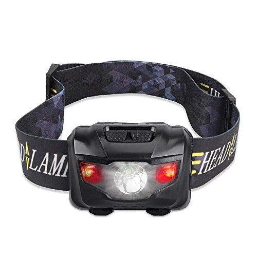 Street Cat LEDヘッドランプ アウトドアヘッドライト 160ルーメン 5点灯モード IPX4防水 角度調節可能 乾電池式 軽量 ハイキング/夜釣り/アウトドア作業/自転車/キャンプ/登山/防災に最適…