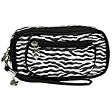 Black and White Zebra Cosmetic Makeup Wristlet, Bags Central