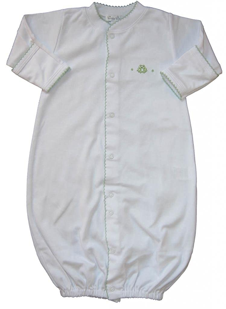 Kissy Kissy Baby Boys Homeward Bound Froggie Embroidered Convertible Gown 313-14-WHCE
