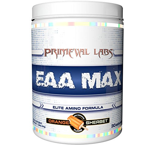 EAA Max Orange Sherbet by Primeval Labs | BCAAs, EAAs, Electrolytes