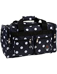 Rockland Luggage 19 Inch Tote Bag, Black Dots, One Size