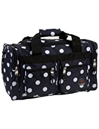 Rockland Luggage Tote Bag, Black Dots, 19-Inch