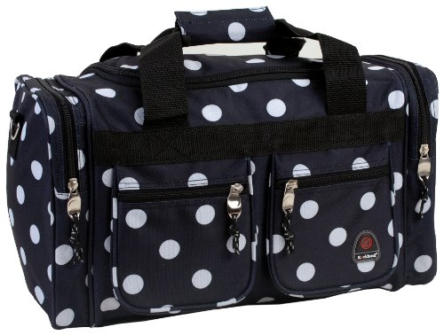 rockland-luggage-19-inch-tote-bag-black-dots-one-size