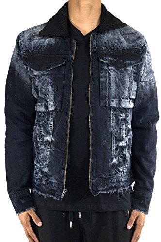 Jordan Craig Legacy Classic Sherpa Denim Jacket 2XL Black by Jordan Craig