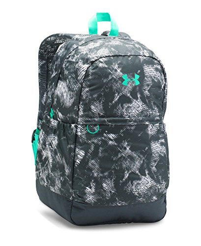 Under Armour Girls' Favorite Backpack, Stealth Gray/Green Breeze, One Size